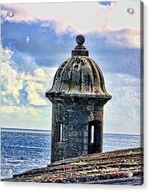 Guard Tower At El Morro Acrylic Print by Daniel Sheldon