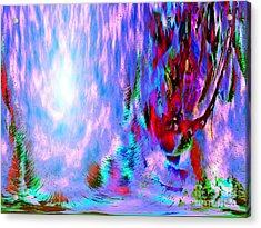 Acrylic Print featuring the digital art Guardian Angel  by Annie Zeno