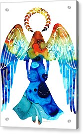 Guardian Angel - Spiritual Art Painting Acrylic Print