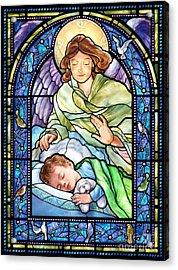 Guardian Angel With Sleeping Boy Acrylic Print