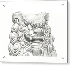 Guardian Lion Acrylic Print