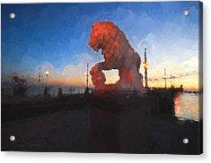 Guardian Of The Bridge Acrylic Print