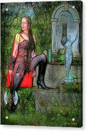 Guardian Of The Shirne Acrylic Print by Jon Volden