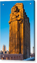 Guardian Towering Over Cleveland Acrylic Print