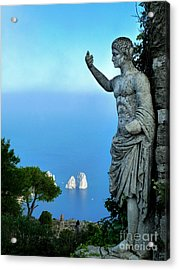 Acrylic Print featuring the photograph Guarding The Water by Mike Ste Marie