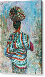 Acrylic Print featuring the painting Guatemala Impression I by Xueling Zou