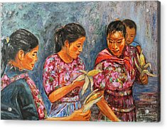 Acrylic Print featuring the painting Guatemala Impression IIi by Xueling Zou
