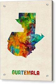 Guatemala Watercolor Map Acrylic Print