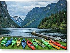 Gudvangen, Norway Fabulous Fjord Called Acrylic Print