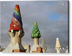 Guell Treetops Acrylic Print by Kathy Schumann