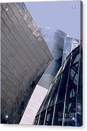 Guggenheim 1 Bilbao Spain Acrylic Print by Linda  Parker