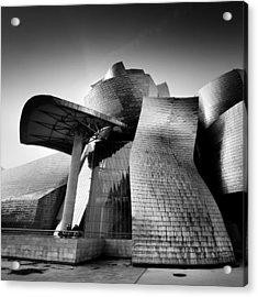 Guggenheim Bilbao Acrylic Print by Nina Papiorek