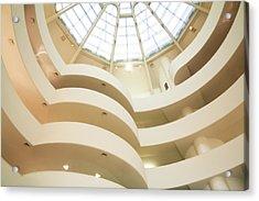 Guggenheim Curves Acrylic Print by Liz Leyden