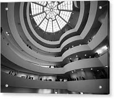 Guggenheim Museum - Interior Acrylic Print by James Howe
