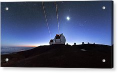 Guide Lasers Over Mauna Kea Observatories Acrylic Print
