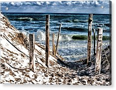 Acrylic Print featuring the photograph Guide Posts by Constantine Gregory