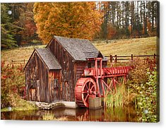 Acrylic Print featuring the photograph Guildhall Grist Mill by Jeff Folger