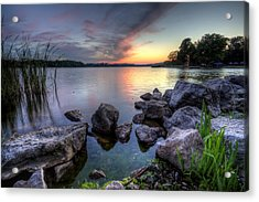 Guilford Lake Sunset Acrylic Print