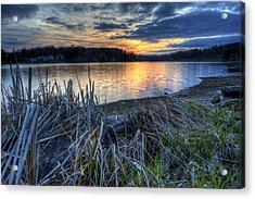 Guilford Lake Sunset Ohio Acrylic Print