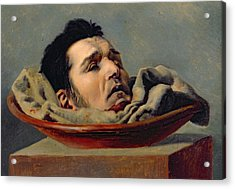 Guillotined Head Acrylic Print by Francois Gabriel de Becdelievre