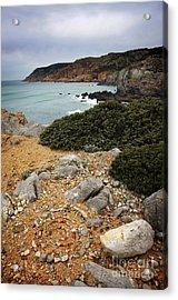 Guincho Cliffs Acrylic Print by Carlos Caetano