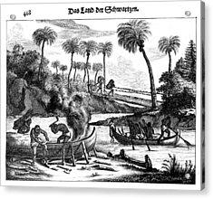 Guinea Shipbuilding, 1686 Acrylic Print