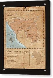 Guinee Map Acrylic Print by Dave Kobrenski
