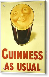 Guinness As Usual Acrylic Print