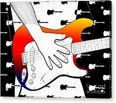 Guitar 1 Acrylic Print by Joseph J Stevens