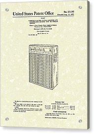 Guitar Amplifier 1971 Patent Art Acrylic Print