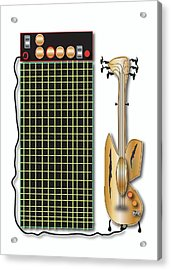 Acrylic Print featuring the digital art Guitar And Amp by Marvin Blaine