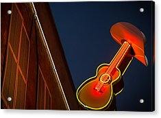 Guitar And Hat Acrylic Print