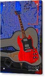 Guitar Art Acrylic Print by Randi Grace Nilsberg