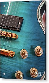 Acrylic Print featuring the photograph Guitar Blues by Joy Watson