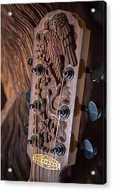 Acrylic Print featuring the photograph Guitar Carving - Bali by Matthew Onheiber