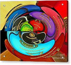 Acrylic Print featuring the photograph Guitar Circle by Cheryl Del Toro
