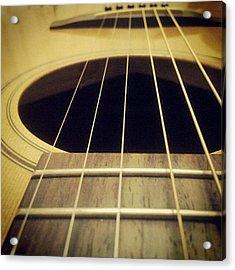 Guitar Closeup Acrylic Print
