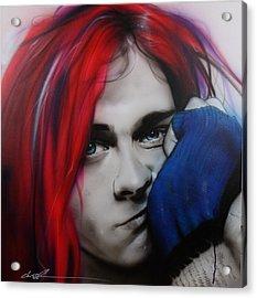Kurt Cobain - ' Guitar Demolition ' Acrylic Print