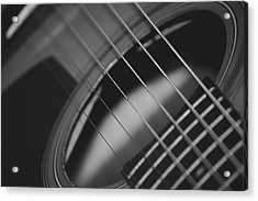 Acrylic Print featuring the photograph Guitar Detail by Michael Donahue