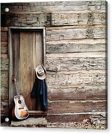Guitar Hat And Jacket By Weathered Barn Acrylic Print
