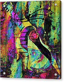 Guitar Improvisation Acrylic Print by Catherine Harms