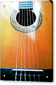 Guitar In The Light Acrylic Print