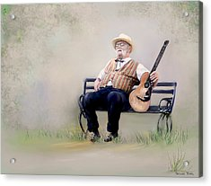 Guitar Man Acrylic Print by Bonnie Willis