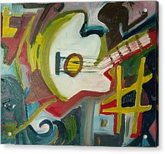 Guitar Muse In C Sharp Acrylic Print by James Christiansen