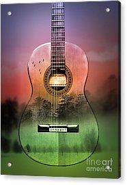 Guitar Nature  Acrylic Print by Mark Ashkenazi