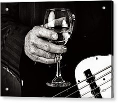 Guitar Player And A Glass Of Wine Acrylic Print