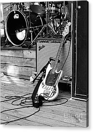 Guitar Realist On Stage Acrylic Print by Sonja Quintero