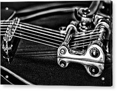 Guitar Reflection Acrylic Print by Karol Livote