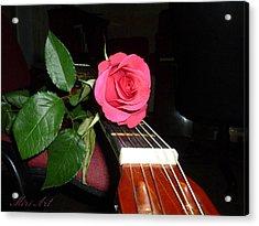 Guitar Rose Acrylic Print