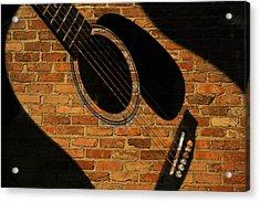 Guitar Shadow Acrylic Print